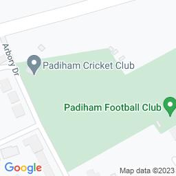 Map of Padiham Cricket Club Ground