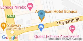 Google Map for American Hotel - Echuca