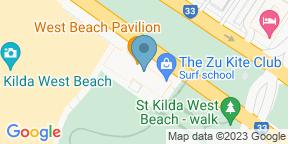 Google Map for West Beach Pavilion