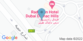 Google Map for FireLake Grill House at Radisson Dubai DAMAC Hills