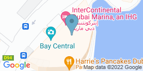 Google Map for Accents Restaurant & Terrace - InterContinental Dubai Marina