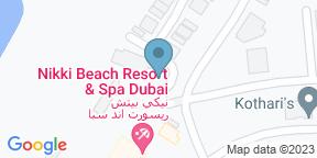 Google Map for Cafe Nikki - Nikki Beach Resort & Spa Dubai