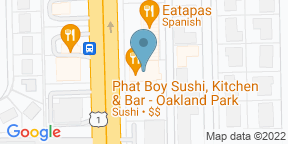 Google Map for Phat Boy Sushi and Kitchen - Oakland Park
