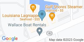Google Map for Louisiana Lagniappe - Orange Beach