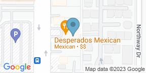 Google Map for Desperados Mexican Restaurant-Dallas