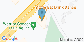 Google Map for Sizzle Eat Drink Dance