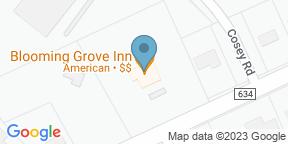 Google Map for Blooming Grove Inn