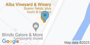 Google Map for Alba Vineyard