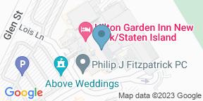 Google Map for Lorenzo's Restaurant, Bar & Caberet - Hilton Garden Inn - SI