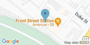 Google Map for Front Street Station a Railroad Eatery