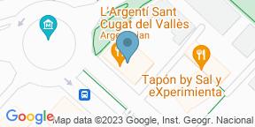 Google Map para L'Argentí de Sant Cugat Del Vallés