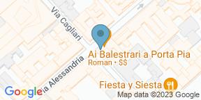Google Map for Ai Balestrari Porta Pia