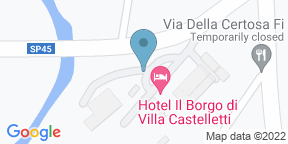 Mappa Google per la quercia di castelletti
