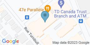 Google Map for Le 47e Parallele