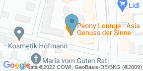 peony lounge auf Google Maps