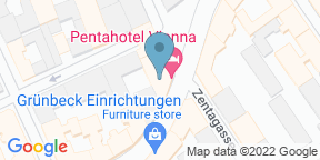 Google Map for pentalounge in Vienna