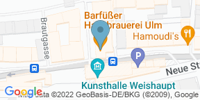 Google Map for Barfüßer die Hausbrauerei Ulm