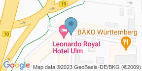 Google Map for Vitruv Leonardo Royal Hotel Ulm