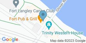 Google Map for Rail & River Bistro