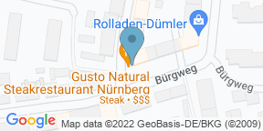 Google Map for Gusto Natural modern. grill.
