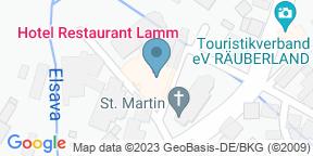 Google Map for Hotel Restaurant Lamm