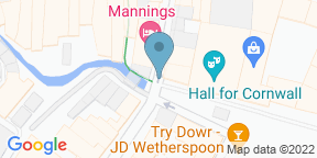 Google Map for Mannings Restaurant