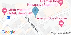 Google Map for The Feather Restaurant at Newquay Beach Hotel