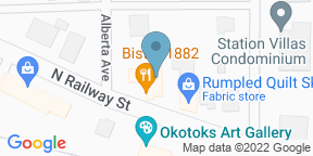 Google Map for Bistro 1882