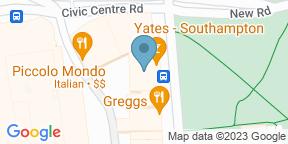 Yates Southampton auf Google Maps