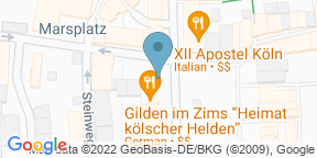 Gilden im Zims 'Heimat kölscher Helden' auf Google Maps