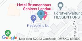 Google Map for Hotel Brunnenhaus Schloss Landau