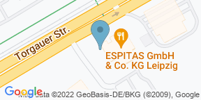 Google Map for ESPITAS Leipzig
