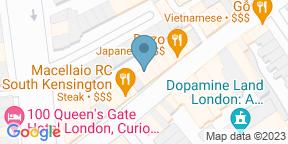 Google Map for Cacciari's Restaurant Sth Kensington - Old Brompton Rd