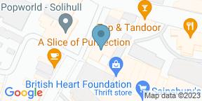 Google Map for Yates Solihull