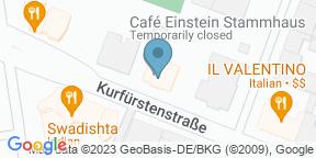 Google Map para Café Einstein Stammhaus