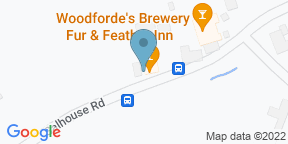 Google Map for Woodforde's Brewery Tap at The Fur & Feather Inn