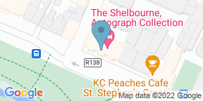 Google Map for The Saddle Room at the Shelbourne Hotel