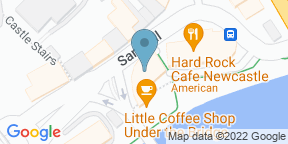 Google Map for Hard Rock Cafe - Newcastle