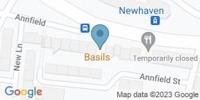 Google Map for Basils