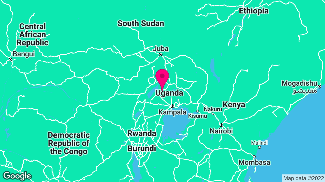 Web Design & Marketing for Positive Youth Development in Uganda's map location