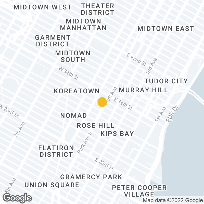 Google Map Location of New York Office