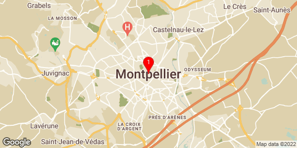 Google Map of Montpellier, France
