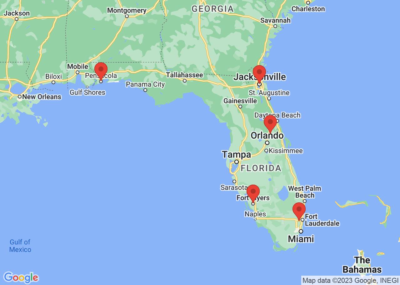 Christian rehabs map