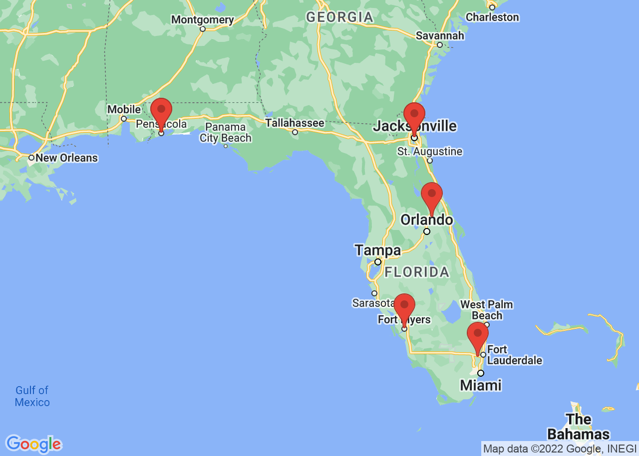 Christian rehabs map