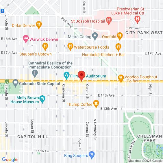 Map to Ogden Theatre