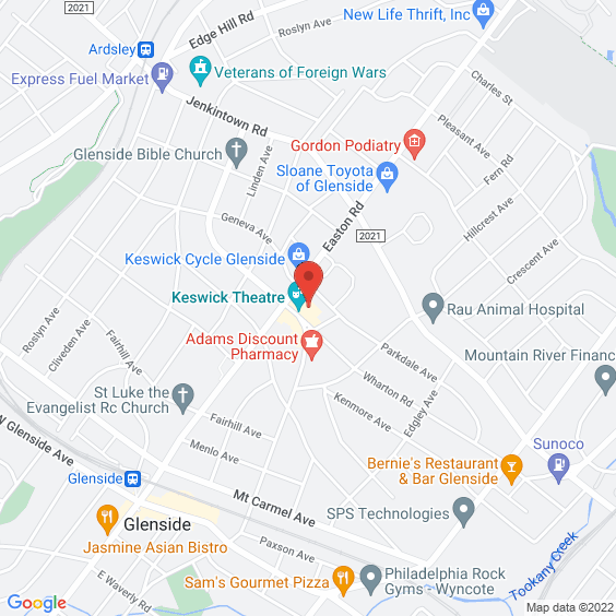 Map to Keswick Theatre