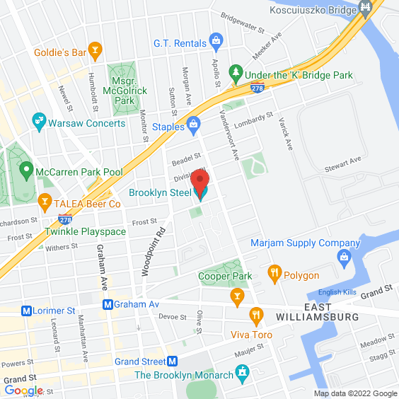 Map to Brooklyn Steel