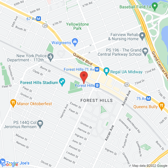 Map to Forest Hills Stadium
