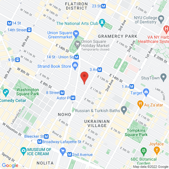 Map to Webster Hall