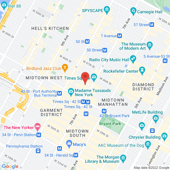 Map to PlayStation Theater